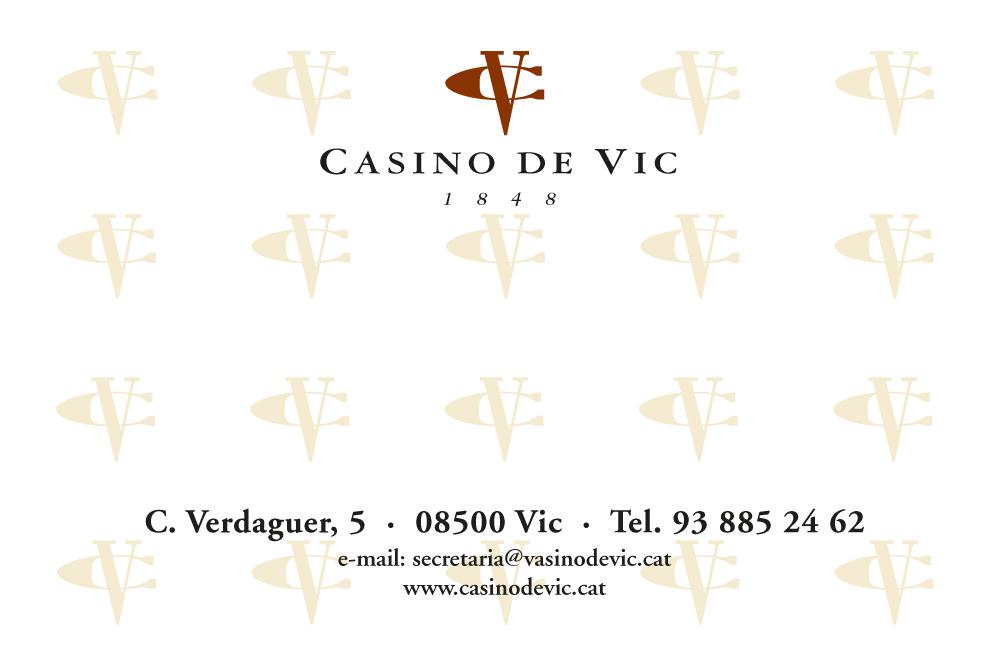 Carnet Casino de Vic